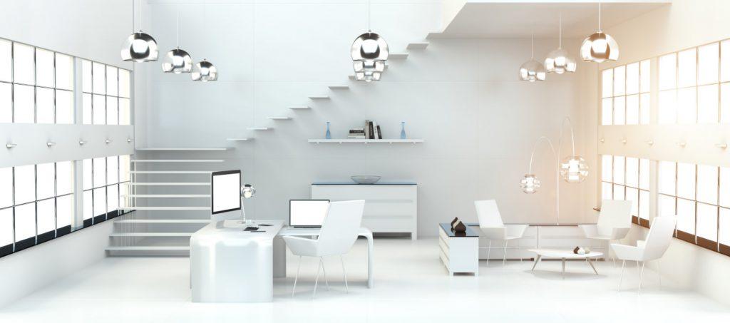 Nowoczesne schody w minimalistycznym wnętrzu